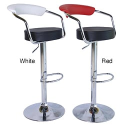 Axis Modern Adjustable Barstools Two-tone Color (Set of 2)