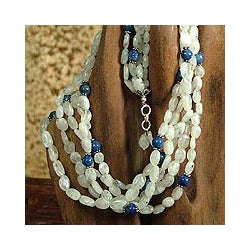 Sterling Silver 'Visionary' Moonstone Necklace (India)