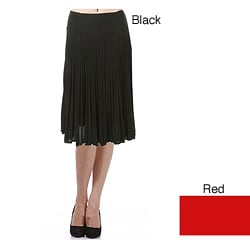 Tabeez Women's Black Knife Pleat Skirt