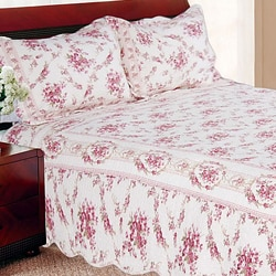 Shabby Chic Vintage Rose Twin-size 2-piece Quilt Set