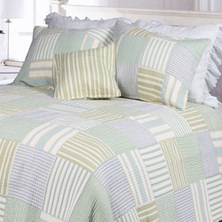 Spa Stripes Patchwork Twin-size 2-piece Quilt Set
