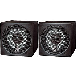 Pyle 3-inch 100 Watt Mini Cube Bookshelf Speaker (Refurbished)
