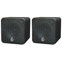 Pyle 4-inch 200 Watt Mini Cube Bookshelf Speakers (Refurbished)