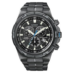 Citizen Men's Eco Drive Black Stainless Steel Watch