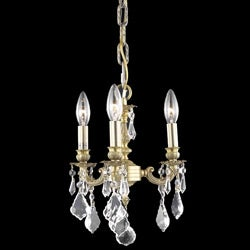 Crystal 3-light French Gold Chandelier