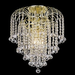 Crystal 4-light Gold Chandelier