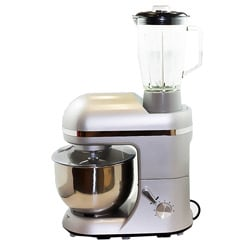 Dr. tech SM1086B Silver 5-liter 2-in-1 Stand Mixer and Blender