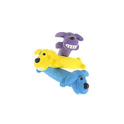 Multipet Mini Loofa Latex Plush Filled Dog Toy (Pack of 3)