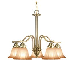 Woodbridge Lighting Morgan Park 5-light Classic Brass Chandelier