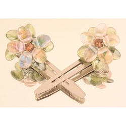 Iridescent Floral Hair Clips