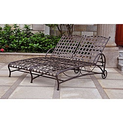 Santa Fe Nailhead Double Multi-position Chaise Lounge