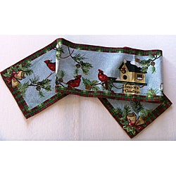 "Season's Greetings Tapestry 70"" Table Runner"