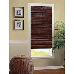 Bali Mahogany Cordless Bamboo Roman Shade (27 in. x 72 in.)