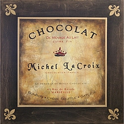 'La Croix Chocolat Brown French Sign' Canvas Art