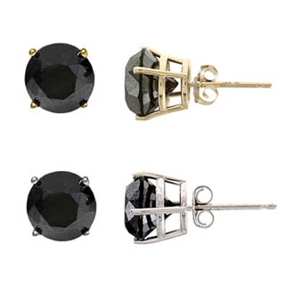 14k Gold 3ct TDW Black Diamond Single Earrings