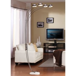 ETHAN HOME Modern Chrome Metal Arch Lamp