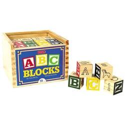 Schylling 48-piece Wooden Alphabet Block Play Set