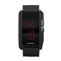 Diesel Men's Silicone Strap Digital Watch