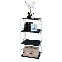 Black 3-shelf Storage Rack