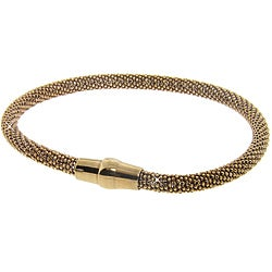 Eternally Haute JewelQuake Gold over Sterling Silver Mesh Bracelet