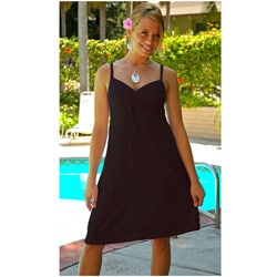 1 World Sarongs Women's Black Short Dress