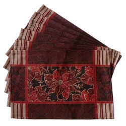 Tapestry Victorian Poinsettia Place Mats (Set of 6)