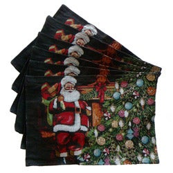 Tapestry Santa's Gift Place Mats (Set of 6)
