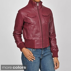 Knoles & Carter Women's Veronica Bomber Leather Jacket