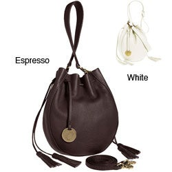 Alla Leather Art Sharlet Espresso Shoulder Bag