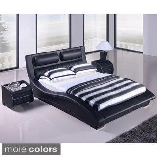 Napoli Modern King-size Bed and Nighstand Set