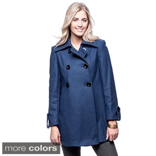 Trilogi Women's Double-breasted Swing Coat