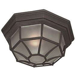 Woodbridge Lighting Basic 1-light Powder Coat Black Outdoor Flush Mount