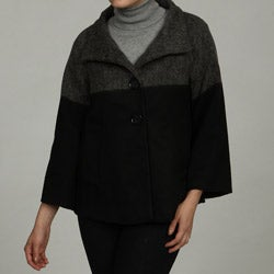Trilogi Women's Two-tone Swing Back Coat