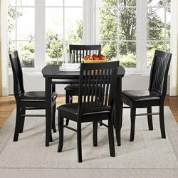 kaylee 5 piece dining set in black images