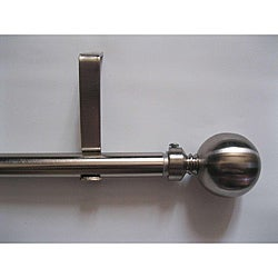 Modern 28 to 48-inch Extendable Metal Curtain Rod Set