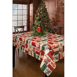 Calico Christmas 60x120-inch Rectangular Tablecloth