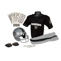 NFL Oakland Raiders Black/Silver Novelty Polyester Youth Uniform Set
