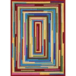 Peony Multi Geometric Rug (7'6 x 9'6)