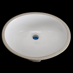 Undermount Oval 17-inch White Vitreous China Bathroom Sink