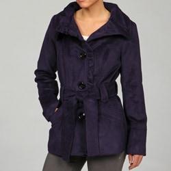 Steve Madden Women's Ribbed Belted Coat