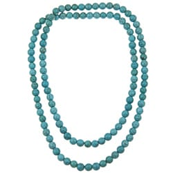 Pearlz Ocean Turquoise Howlite 36-inch Endless Necklace