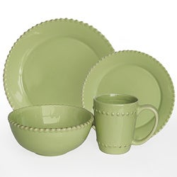 American Atelier Bianca Beaded Verde 16-pc Dinnerware Set