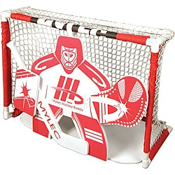 Red/White Contemporary Mylec Knee-hockey Buddy Foam Goalie Target