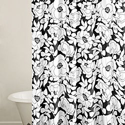 City Scene Mckenzie Floral Shower Curtain