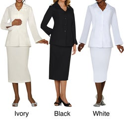 Divine Apparel Plus Size Classic Skirt Suit
