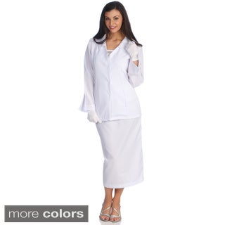 Divine Apparel Women's Classic Fashion Skirt Suit