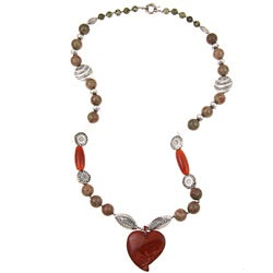 Pearlz Ocean Unakite, Agate and Jasper Necklace