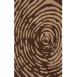 Hand-tufted Swirl Brown (5'0