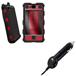 Ballistic HC Samsung Infuse Black/ Red Protector Case and Micro USB Car Charger
