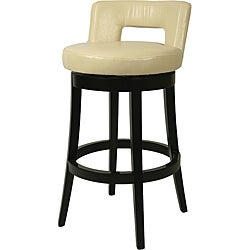 Eureka Wood Cream Swivel Bar Stool